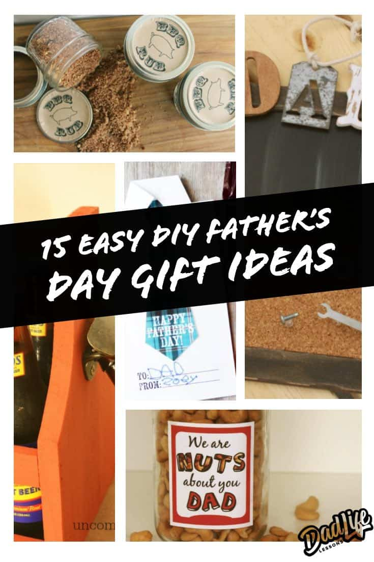 15 Easy DIY Fathers Day Gift Ideas Pinterest