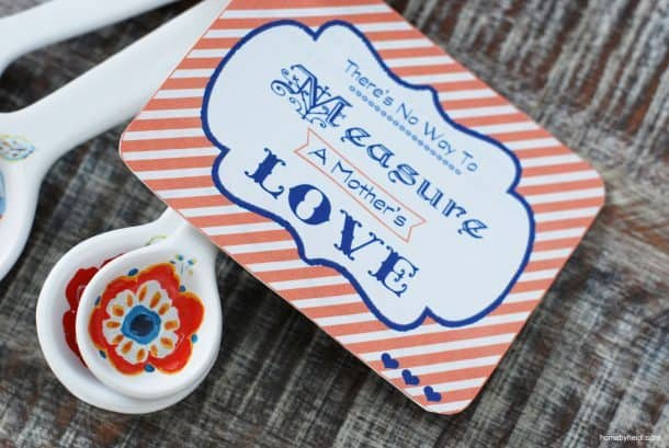 Measure of Moms love Easy Mothers day gift idea