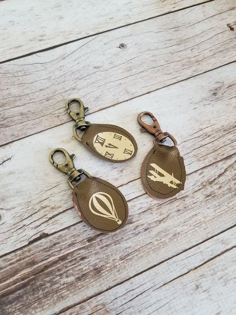 diy Fathers Day leather keychain