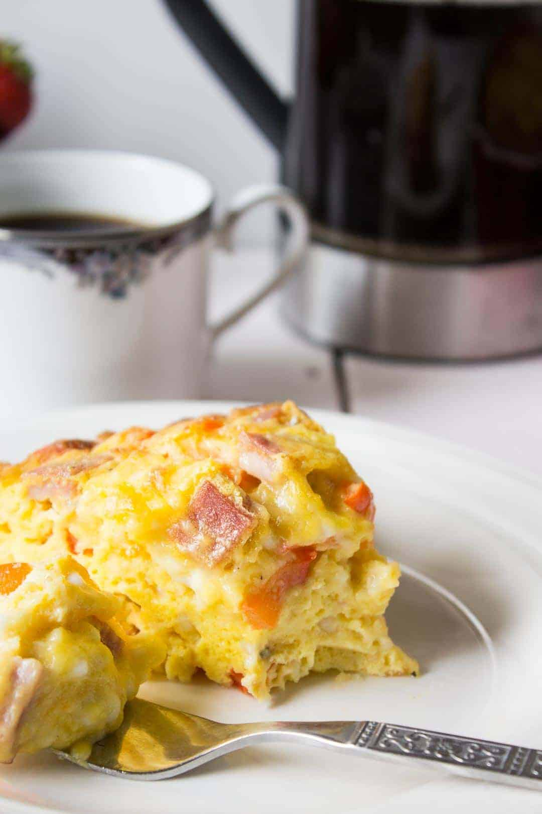 cheesy baked egg casserole for Mothers Day Brunch