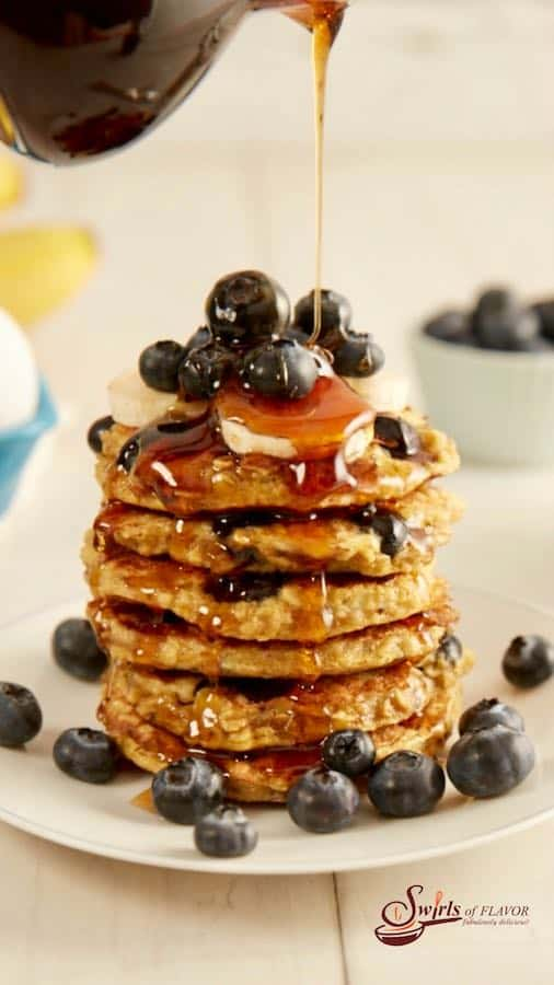 Brunch gluten free blueberry pancakes
