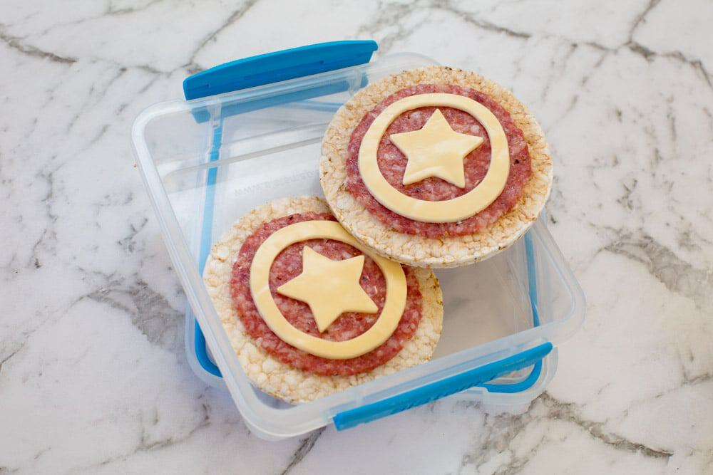 Fun Snacks For Toddlers - Avengers Shield Bites