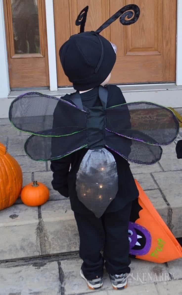 firefly halloween costume lightning bug kids