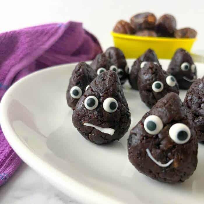 Fun Snacks For Toddlers - Poop Emoji Bites