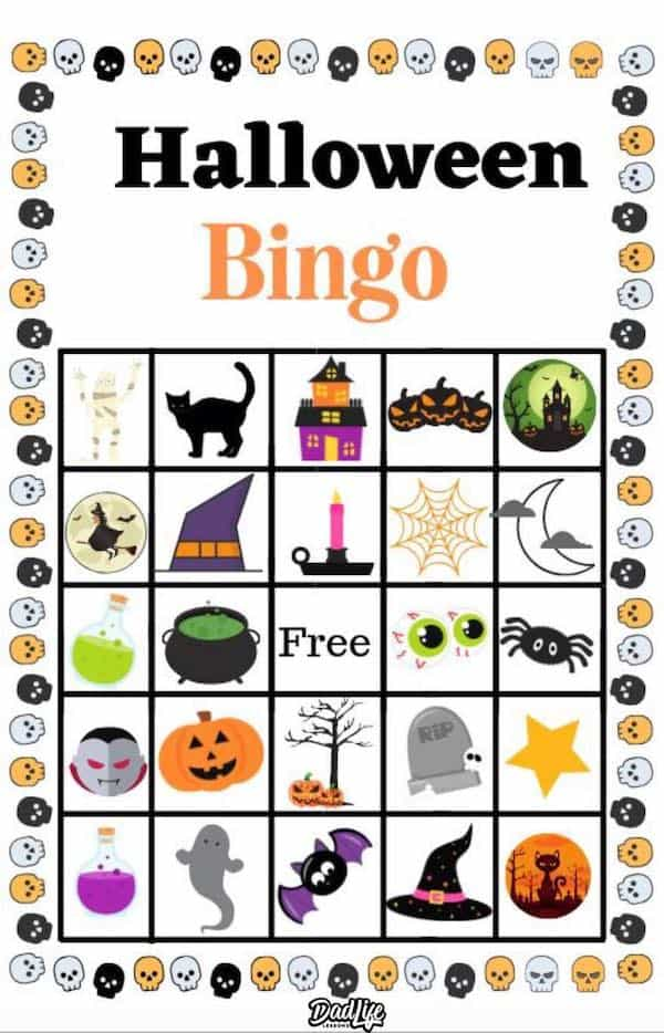 It is a graphic of Crazy Free Printable Halloween Bingo Cards