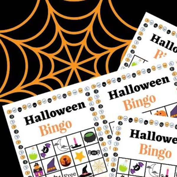 photo relating to Free Halloween Bingo Printable named 3 Sets of Cost-free Printable Halloween Bingo Playing cards - Father Daily life