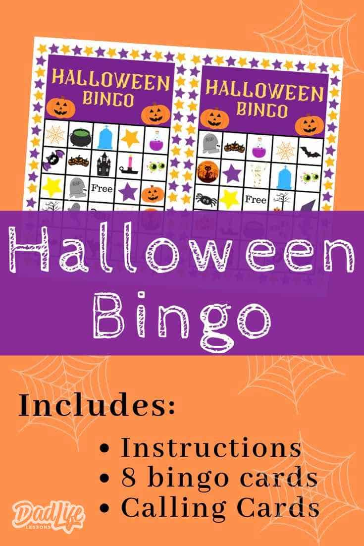 Halloween Bingo Pin1