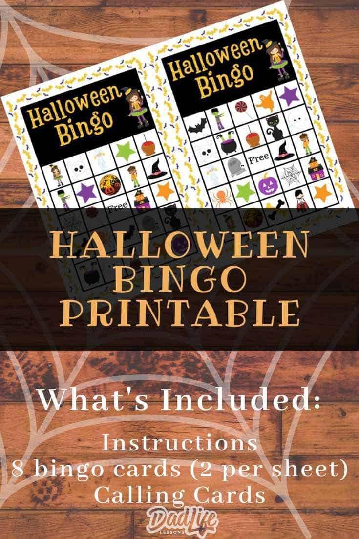 Halloween Bingo Pin2