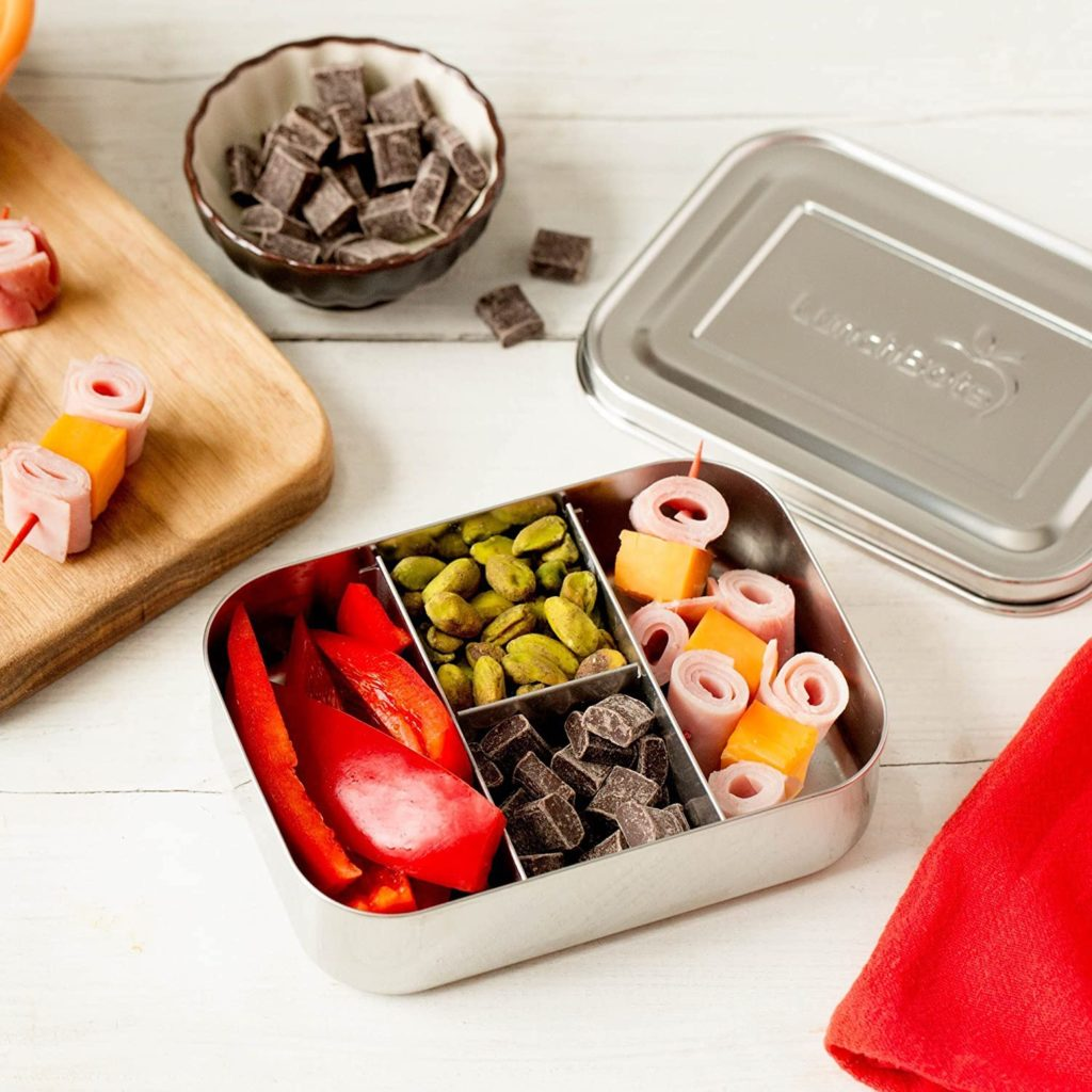 small stainless steel bento box