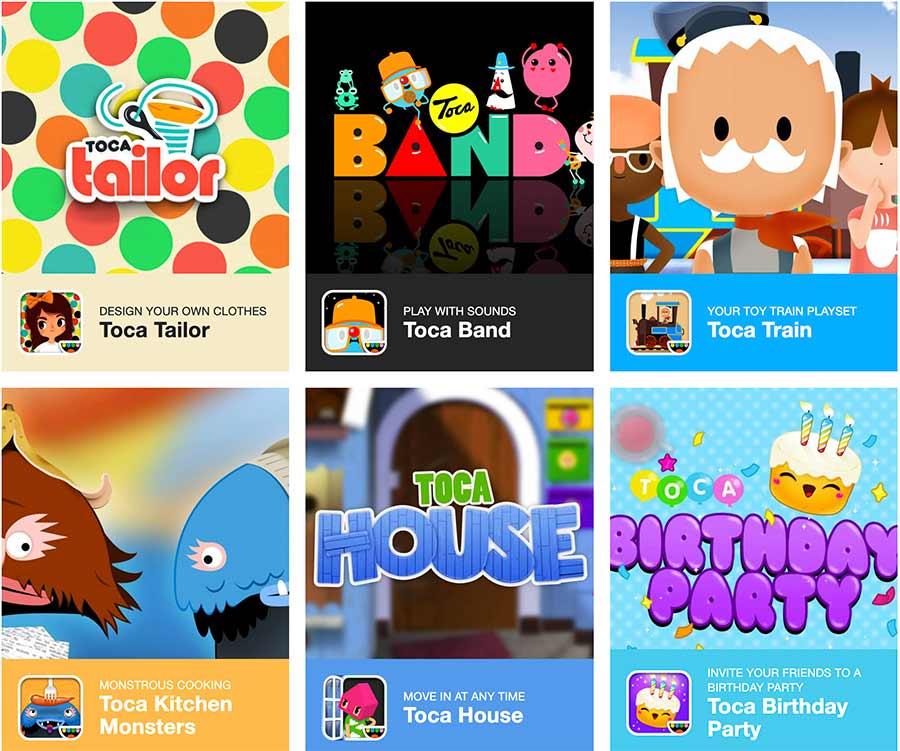 toca boca games apps