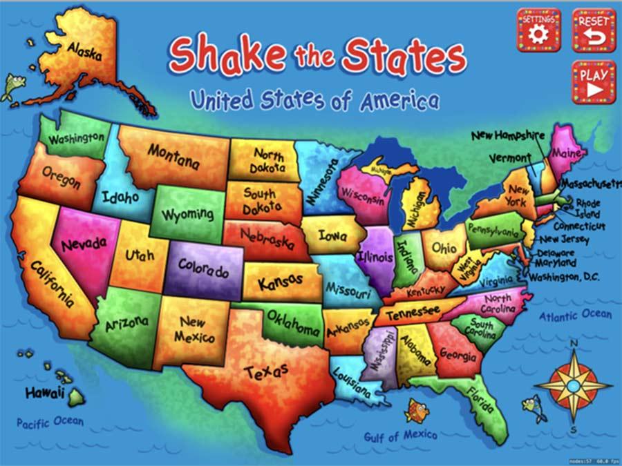 shake the states educational app