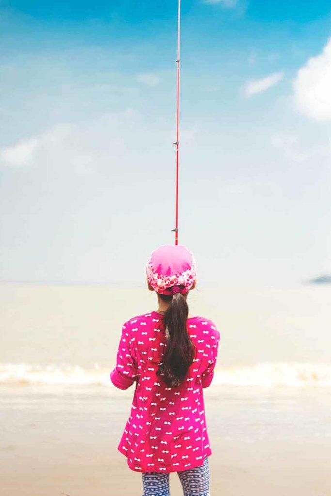 daughter fishing