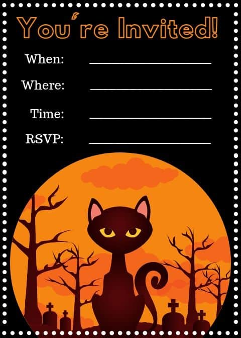 halloween party printables invitation