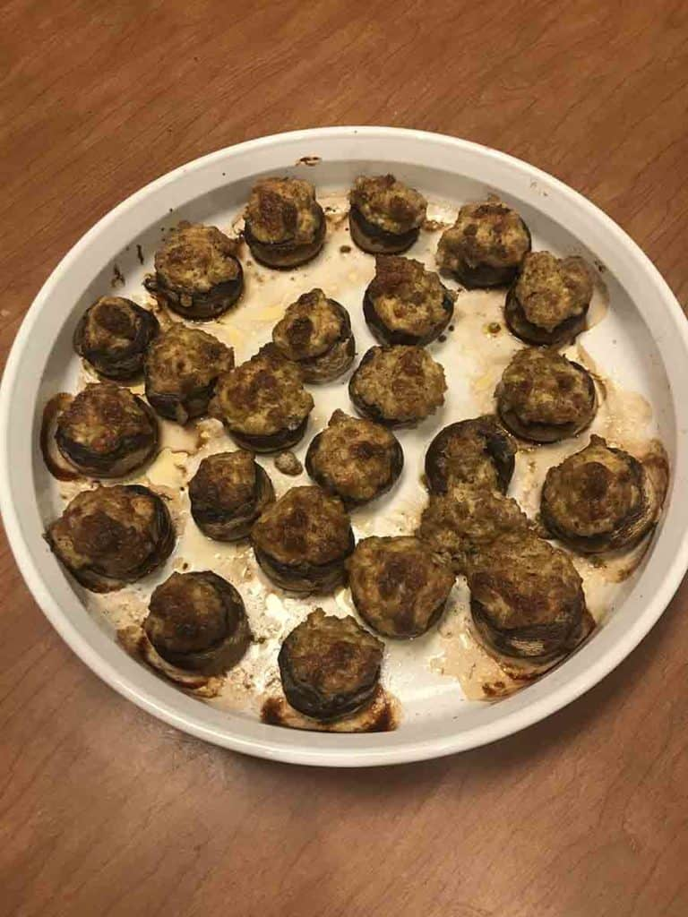 cooked stuffed mushrooms