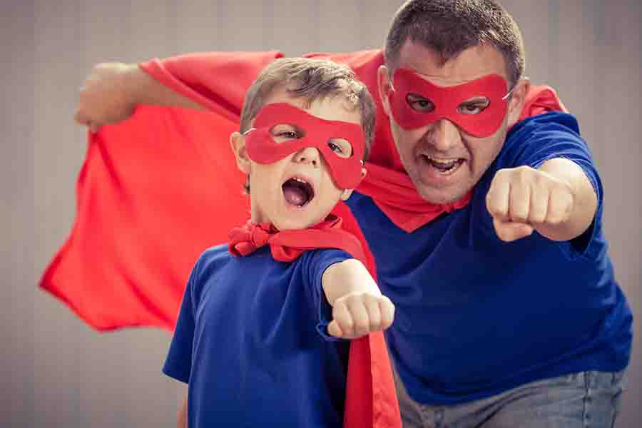 father son superhero halloween costume
