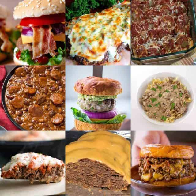 10 easy meals with hamburger featured image
