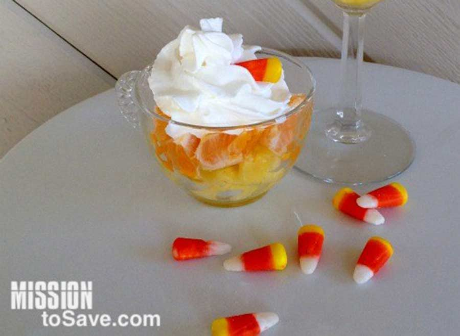 Easy homemade candy corn cocktail