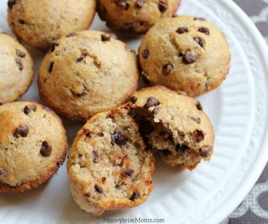 Easy homemade chocolate chip muffins