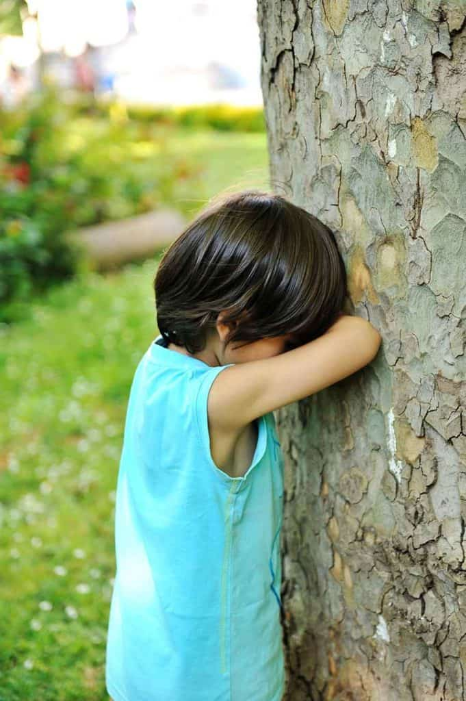 playing hide and seek outside