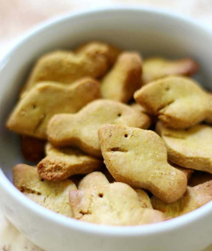 Easy homemade gold fish crackers