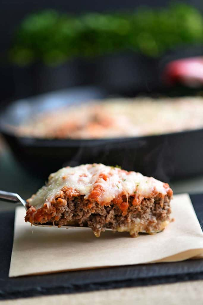 Meatza Pie With Ground Hamburger meat