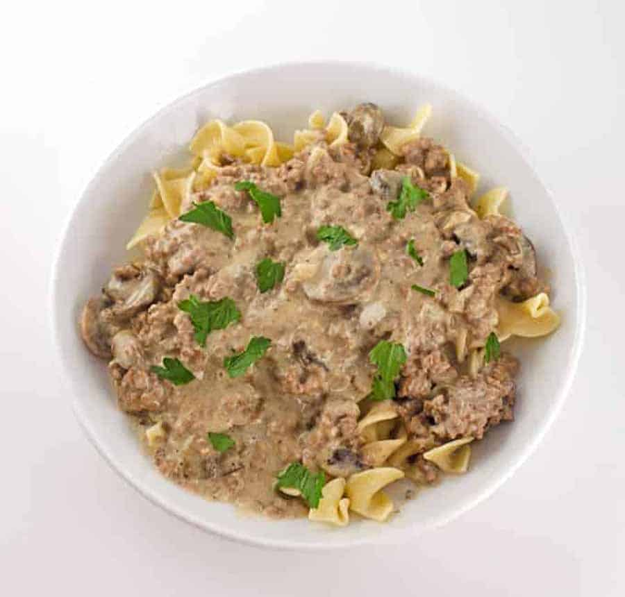 Beef Stroganoff Made With Ground Hamburger meat