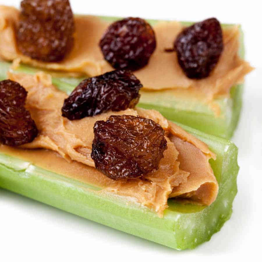 ants on a log toddler snack