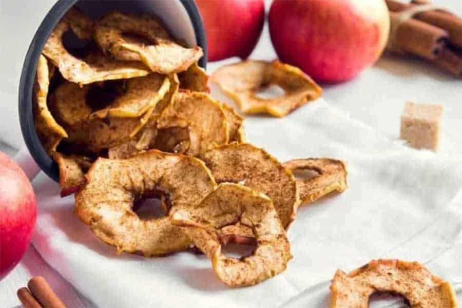 easy homemade apple chips snack