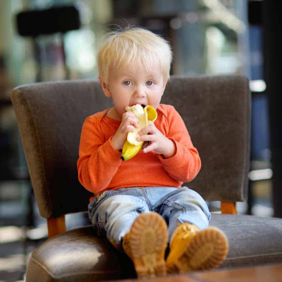 banana toddler snack