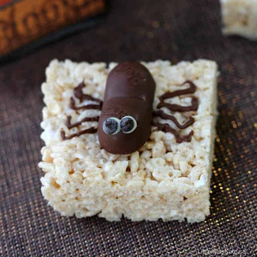Spider rice crispy treat Halloween Baking Recipe