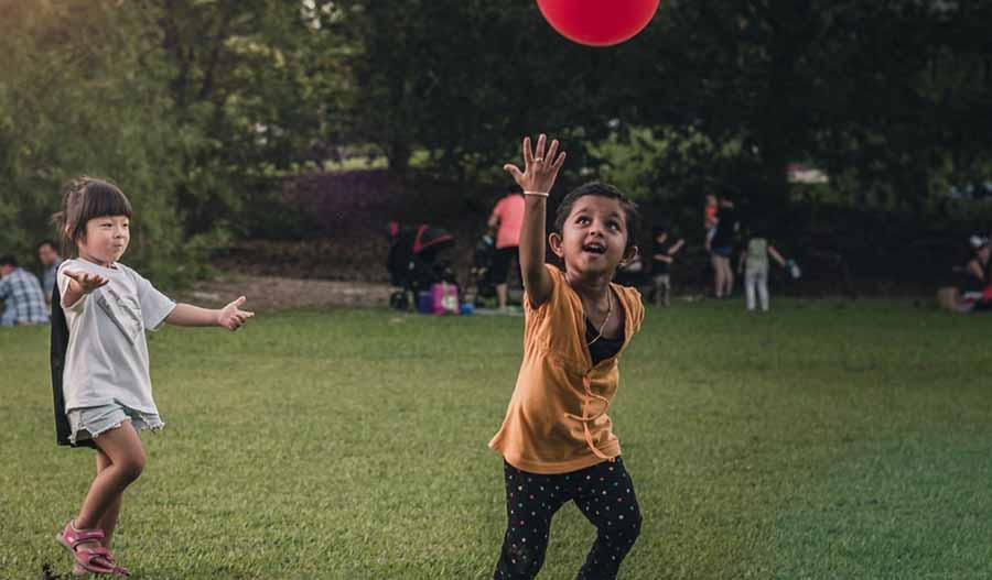fun frisbee game outside