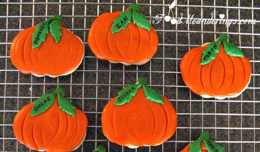 Pumpkin sugar cookies Halloween Baking Recipe