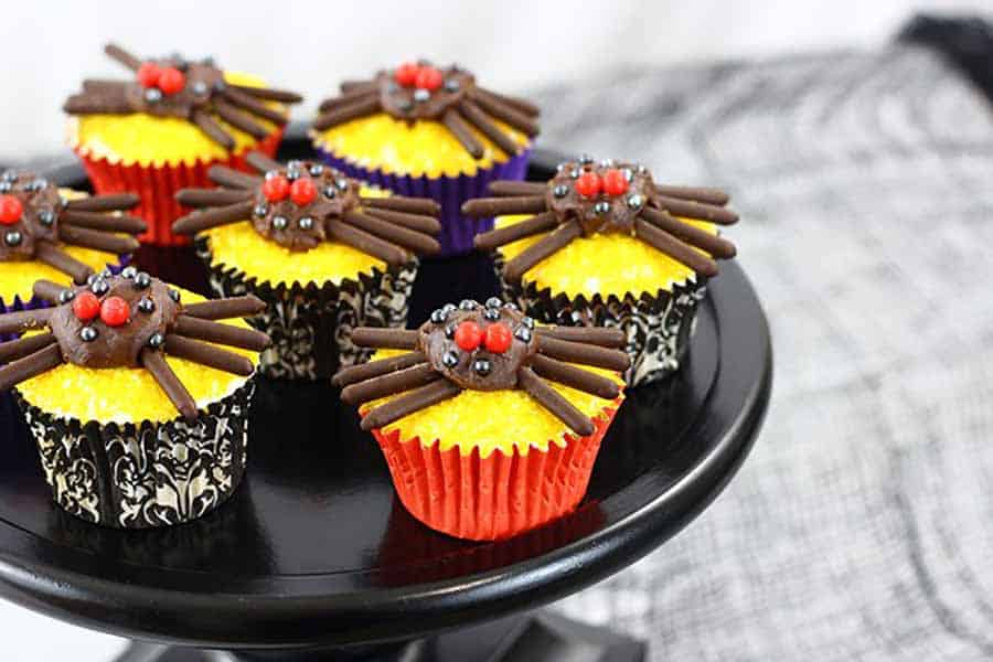 Spider cupcakes Halloween Baking Recipe