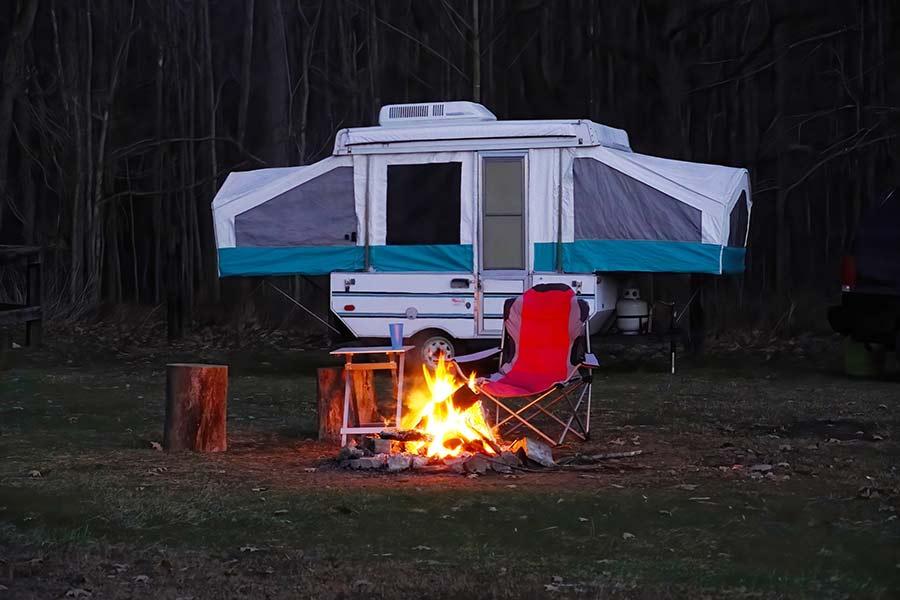 cool pop-up camper