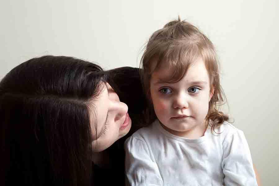 parent speaking to child